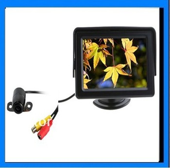 2013 4.3 inch LCD Monitor and 170 Degree Reverse Camera Car Rear View Kit Car Parking Sensor Camera Parking Kit Free Shipping