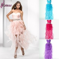 Free Shipping P4669 Erose Sweetheart Beaded Party Gown Homecoming Prom Ball Formal Evening Dress 2013 With Bow