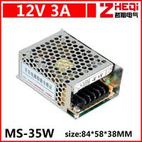 Mini 35W switching power supply, monitor power 12V3A DC power supply, AC86 ~ 240 rpm DC12V