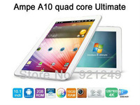 "Free shipping  2013 New Original Ampe 10  A31 Quad Core 10.1"" IPS Tablet Pc  1280*800  Dual Camera 2.0M 2GB/16GB Wifi"