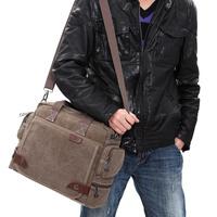 Free shipping! Man's fashion canvas shoulder bag, portable document/laptop casual messenger bag