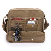 Free shipping! Fashion man's canvas casual shoulder bag, business handbag, 5 colors