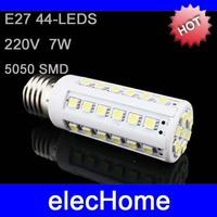 High Brightness LED Lamps Bulb light E27 5050 SMD 44 leds AC 220V 7W Corn LED Bulbs LED Lights Light Nature White Warm White