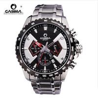 2014 Time-limited Hardlex Sport New Men's Stainless Steel Bracelet Watch 50 Meters Waterproof Male Table Motorsport Quartz Dive