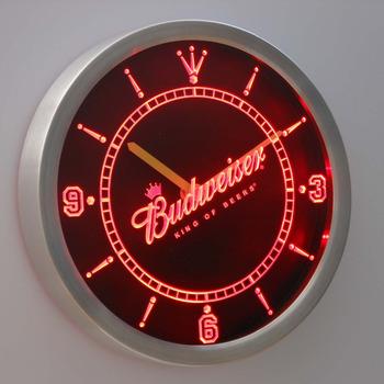 nc0467 Budweiser Beer Neon Sign LED Wall Clock
