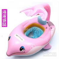 NEW arrived children inflatable dolphins swimming boat The best gift for children's day
