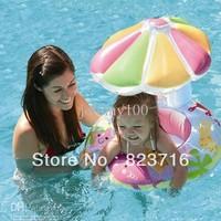 NEW arrived INTEX sunshade children swimming laps baby seat swim ring