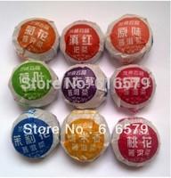 9 PCS Different Chinese Puerh Tea Puer Ripe Tea Pu-erh Cake Healthy