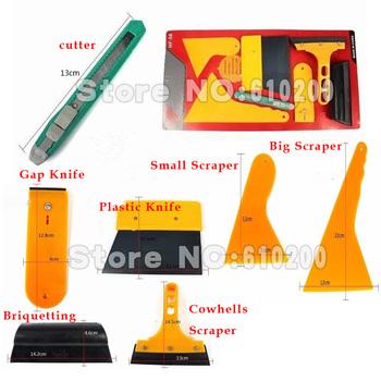 Free shipping 7/pcs Auto foil tools set High temperature resistant scraper set Mobile phone screen saver film tools