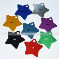 Free Shipping Star Shaped  Aluminum Pet Tag/pet id  Tag, 5-7colors(random colors ) / 500pcs/lot ,36*36*1mm