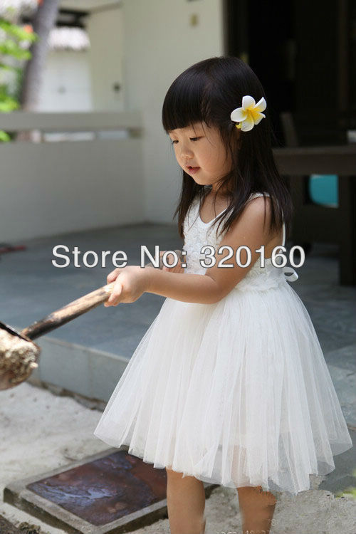 Wholesale 5pcs/lot 2013 baby girls dress small flower patchwork dress,white veil Princess/Angel dress Free shipping(China (Mainland))
