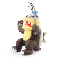 Free Shipping 1pc Super Mario Bros Wii Morton KOOPA JR Posable Action Figure 13CM Wholesale And Retail