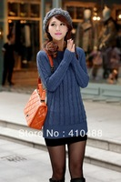 Women Winter Thickening Slim Sweaters, O-neck Medium-long Primner Ladies Warm Pullovers Sweater with gift,free shipping