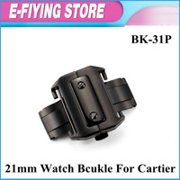 BK-31P High quality 21mm watch strap band buckle clasp  for  SANTOS 100 Strap Band Free shipping