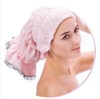 Free shipping Bath cap Microfiber bath cap lace dry hair cap 3 color to choose