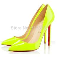 Free shipping,2013 women's high heels, Fashion plus size open toe heels ,fluorescent yellow shoes high heel