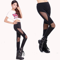 Fashion leggins!2013 Spring Women's Net thickness stitching Leggings Skinny Stretch Pants