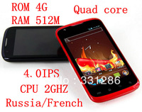 "Support russian 100% Original pepper lti 4.0""IPS 5MP quad core mtk6588 WIFI GPS Android Unlocked smart mobile phone instock"