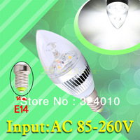 2pcs 6W 3x2W Pure White E14 Home Candle Bulb LED Light Lamp 85-265V 110V 220V 230V Warm White