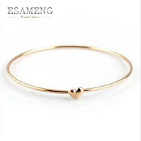 2014 New Fashion Women Personalized Gold Lovely Heart Bracelet Bangle for Women Gold Jewelry Wholesale sg140001