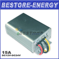 Free Shipping DC DC Converter 12V 24V 15A Step-up Power Converter with Waterproof