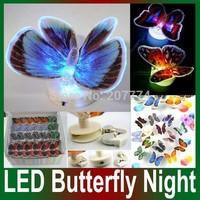 Colorful Fiber Optic Butterfly Nightlight LED Butterfly Night Light For Wedding Room LED Night Light For Children Room