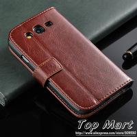 Wallet PU leather case for Samsung Galaxy Grand duos i9080 i9082,stand flip case with credit card holder,free shipping