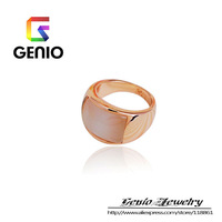 GN R191 18K Gold Plated Opal Couple Ring BIG STYLE Made with Genuine SWA ELEMENTS  Austria Crystals