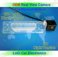 Free shipping! HD Rear View Renault Koleos 2008- 2010 CCD night vision car reverse camera auto license plate light camera