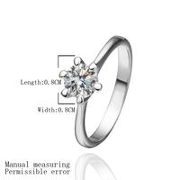 Wholesale Austrian Crystal Synthetic Diamond Engagement Rings Platinum Ring Jewelry Fashion Jewellery Angel Alianca 18KR252