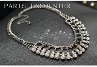 Factory Wholesales European American Fashion Wild Metal Rhinestone Necklace