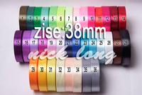 Free shipping 1-1/2'' / (38mm) 100 yds single face Satin Ribbon/webbing decoration/gift ribbon ,36 Colors , 25 yards/roll/volor