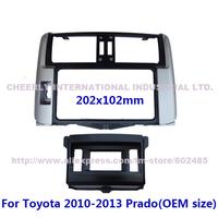 Special Car Facia Fascia for Toyota Prado LHD Original Size DVD Stereo Audio CD Dash Installation Panel Kit Bezel Frame 2Din