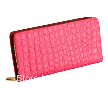 The new candy-colored Miss Qian Bao Long Wallet Korean version of women's large zipper wallet clutch bag phone bag