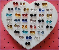 Free shipping wholesale 72pairs/lot hot sale high quality 6cm crystal stud earring.