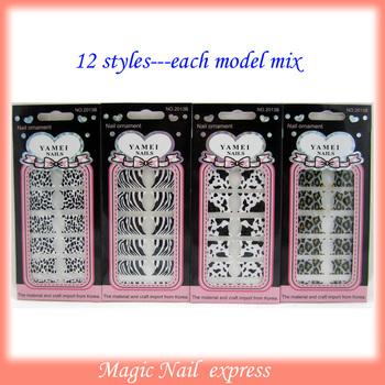 Nail Art Wraps, Foils Stickers 12 Pcs pack Various designs 24sheets/lot