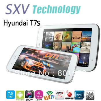 "T7S Quad Core Tablet PC 7"" IPS Screen Exynos 4412 Android 4.0 2GB RAM 16GB GPS Bluetooth 5.0MP Camera HDMI White"