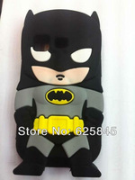 Newest Cool Design 3D Superman silicone Transformers batman case Gel Silico cover for iphone4 4S 4G Free shipping 10pcs/lot