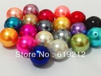 Wholesale Beads 20MM 100pcs/lot Mixed Acrylic Chunky Beads For Jewelry Making free shipment