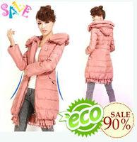 free shipping Fashion lace decoration medium-long down coat female slim women's  2013