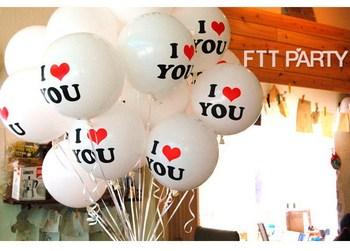 50pcs Printing I LOVE U Round Latex Party Balloon Wedding Birthday Occasion Decorative Free Shipping