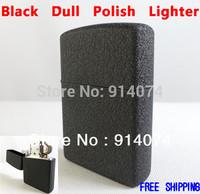 Free Shipping Metal Windproof Cigarette Lighters Black Dull Polish Kerosene Oil Lighter Gift Classical Vintage Mat Lighter