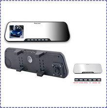 "Free Shipping Rearview Mirror Car DVR Camera Dual Lens front and back G-Sensor 1280*720P 2.7"" LCD H.264 Vehicle Black box DV300L"