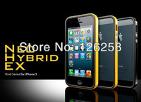 PC+Silicone Newest SGP Neo Hybrid EX Vivid Series Case For IPhone 5 5g bumper+Original Box Free Shipping