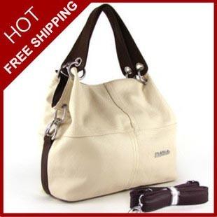Hot Selling Fashion Solid Pu Leather Patchwork Women Handbag Vintage Versatile Office Lady Handbag Large Capacity Women Tote