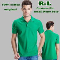 BNWT R-L 2014 Men Custom-fi Mesh Small horse Logo original tshirt/Short-Sleev men Golf/100% cotton,original casual brand shirts