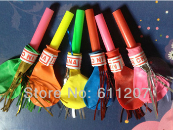 lowest price ..HOT 50pcs /lot whistle balloon toy balloons assorted color