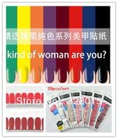 High Quliyt Nail Sticker (20pcs/set ) Pure Nail Polish sticker Free Shipping