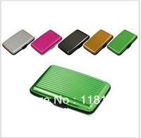 2013 fashion handbag  952 aluminum credit card bag card case / aluminum -sided color card boxes FedEx  Free shipping 50pcs/lot