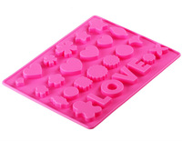 Free shipping Love Flower Silicone DIY Mold Tray, Silicone Cake Molds, DIY chocolate cookie jelly mold